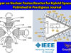 Paper on Nuclear Fusion Reactor for Hybrid Spacecraft Published in Prestigious Journal